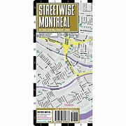 Streetwise Montreal Map - Laminated City Center Street Map Of Montreal, Canada -