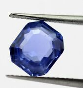 Unheated Igi Certified Natural Blue Sapphire 3.82 Ct Top Luster 8x7 Mm No Heat