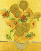 Dmc Counted Cross Stitch Kit Sunflowers After Vincent Van Gogh 29x365 Cm Di