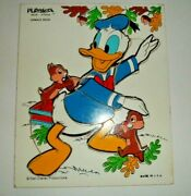 Vintage Playskool Donald Duck W Chip And Dale Chipmunks Wood Puzzle 1970's