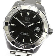 Wristwatch Tag Heuer Aquaracer Way2110-0 Menand039s Used Silver Black Automatic