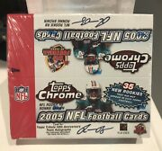 2005 Topps Chrome Football Retail Box 24 Packs Factory Sealed Rodgers Rc 🏈