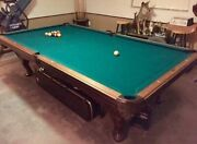 The St. Charles Pool Table Is Made From Solid Wood And Features Ornate Carvings.