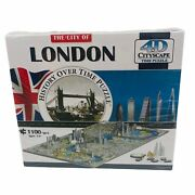 4d Cityscape Jigsaw Puzzle - London City Map With Time Layer - New Sealed