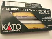 Kato N Scale 106-0803 Up Pa-1 And Pb-1 Alco Diesel Locomotive Set