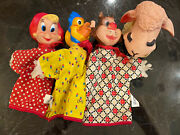4 Hand Puppets Gund And Harvey Cartoons Wendy The Witch Catnip Baby Huey Lamb Chop
