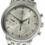 Wrist Watch Omega De Ville 4540.31 Menand039s Analog Silver Hand Winding Swiss Used