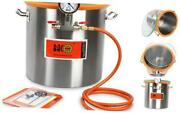 5 Gallon Tempered Glass Lid Stainless Steel Vacuum Chamber Perfect For