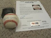 Gorgeous Mickey Mantle Signed Autographed Baseball Ball Yankees Psa/dna Mint 9