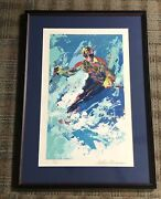 Leroy Neiman Hand Signed And Numbered Serigraph Downhill Skier