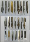 23 Different Vintage Nibs E.g. Sommerville Mitchell Soennecken Perry