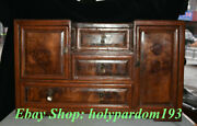 20 Collect Old China Huanghuali Wood Carving Dynasty Palace Drawer Cabinet