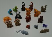 Lego Lot 17 Pets Animal Minifig Friends Monkey Squirrel Seal Mouse Cat Panda
