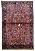 Handmade Antique Oriental Rug 3.2and039 X 5.2and039 97cm X 158cm 1920s - 1b702