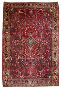 Handmade Antique Oriental Rug 3.6and039 X 5.3and039 109cm X 161cm 1920s - 1b730