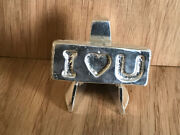 I Love You - Silver Bar - 2 Ozt 999fs - Valentines Gift