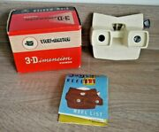 Rare Cream Viewmaster Model E Viewer Made In Belgium Near Mint Boxed K449