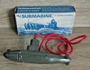 Vintage Tresco The Submarine 1950and039s Diving Toy Rare Boxed Early 1st Issue K428