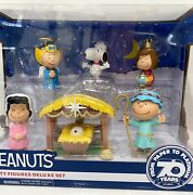 Peanuts Nativity Figures Deluxe Set Snoopy Charlie Brown Lucy Figures Christmas