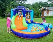 Commercial Inflatable Bounce Water Pool Slide Kids Bouncer Combo And Air Blower