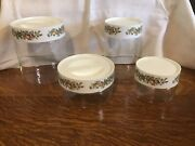 Vintage Pyrex Spice Of Life Stacking See N Store Containers Canisters Set Lot 4