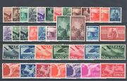1945 Republic Italian, Italy, Stamps New, Year Complete 37 Values