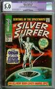 Silver Surfer 1 Cgc 5.0 Ow/wh Pages / Origin Of Silver Surfer Marvel Comic 1968