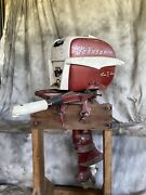 Johnson Seahorse 7.5 Outboard Motor With Stand And Gas Tank
