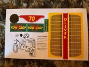 Decal For Oliver 70 Row Crop Pedal Tractor - New Nos - Scale Models