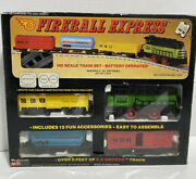 Vintage Ho Scale Train Set Fireball Express Battery Operated Woolworth 5320