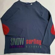 Vintage 90s Snow Surfing Long Sleeve Shirt Size Xl