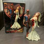Used Marvel Zombie Spider-man And Mary Jane Statue Figure Only 2500