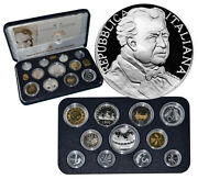 Italy 1995 Proof Set Original Mint Packaging W/2 Silver Coins Pietro Mascagni R