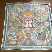 Unused Louis Vuitton Scarf Large Format 88×88cm Silk 100 Made In Italy