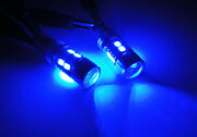 2x Samsung 10 Smd Led 168 194 W5w For 15-18 Mini Cooper Clubman Tail Light Blue