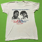 Vintage 80s Wbc Boxing T-shirt Larry Holmes Vs Gerry Cooney Pride Glory 1982
