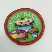 Patch Gsa Girl Scouts Holiday Baking Pastry Pie Cake Cookies