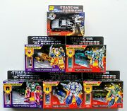 Transformers G1 Reissue Headmasters - Decepticons And Autobots - Lot Of 6 - Nisb