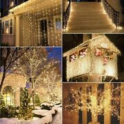 Outdoor Christmas Led String Lights 100m Decorative Holiday Tree Garland Lamps