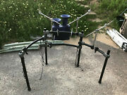 Roland Mds-12 Drum Rack Mount Stand V Drum Mds12 + Clamps And Boom Cymbal Arms