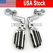 Chrome 1 Highway Motorcycle Foot Pegs Pedals Crash Bar For Honda Goldwing Usa