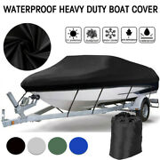 14-22ft 600d Oxford Fabric High Quality Waterproof Boat Cover With Storage Bag