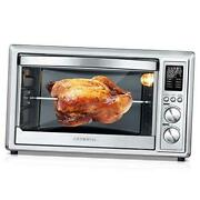 Air Fryer Toaster Oven 32 Quart Convection Roaster With Rotisserie And Silver