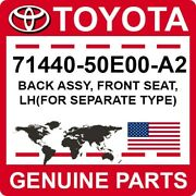 71440-50e00-a2 Toyota Oem Genuine Back Assy Front Seat Lhfor Separate Type