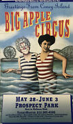 Big Apple Circus Poster Vintage Card Stock From 1992 Coney Island