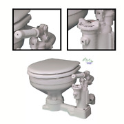 Marine Ph Superflush Toilet With Soft-close Lid, Manual And Electric Boat Toilet