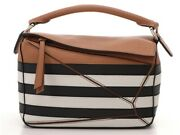 Loewe Puzzle 2way Bag Brown White Black Calf 2148103152016 Complete Shippingfree