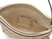 Gg Shoulder Bag Beige Ivory Canvas Calf Shippingfree From Japan Collection