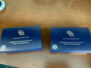 Two Sets-2013 Us West Point American Eagle Two-coin Silver Proof And Reverse Set