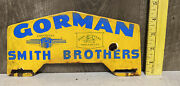 Vintage Gorman Smith Brothers Porcelain Plate Topper John Deere Chevy Gas Oil